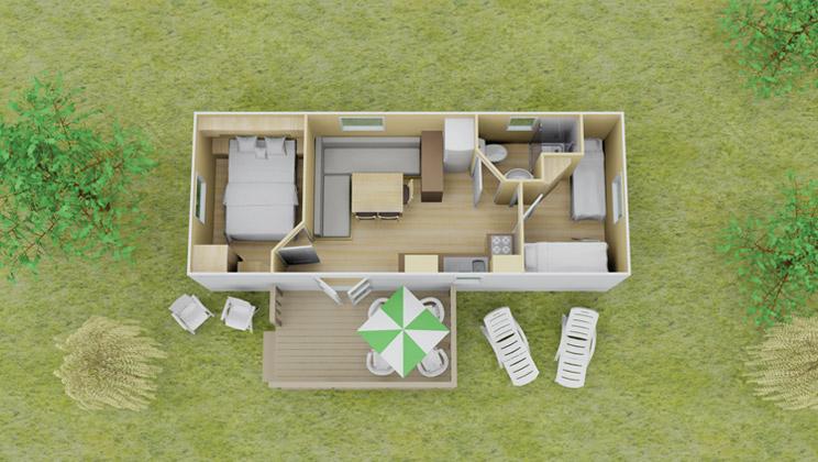Classic stacaravan 2 slaapkamer 7 personen eurocamp campingvakanties - Plan ouderslaapkamer met badkamer en kleedkamer ...