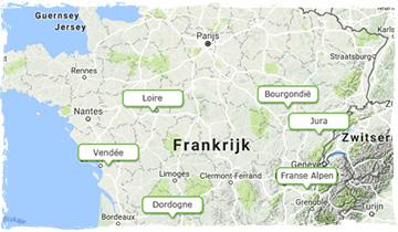midden frankrijk kaart